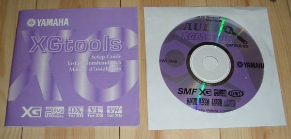 XGtools CD and manual