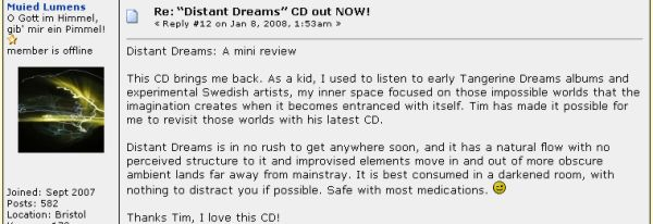 Distant Dreams review