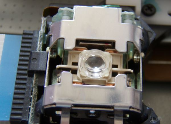 Close up of the laser lens